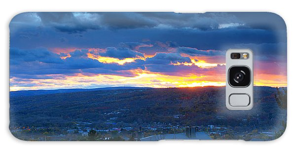 Sunset In Ithaca New York Panoramic Photography Galaxy Case