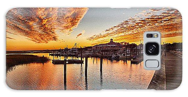 Sunset In Murells Inlet Galaxy Case
