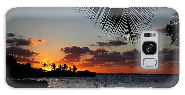 Sunset In Paradise Galaxy Case by Michelle Wiarda