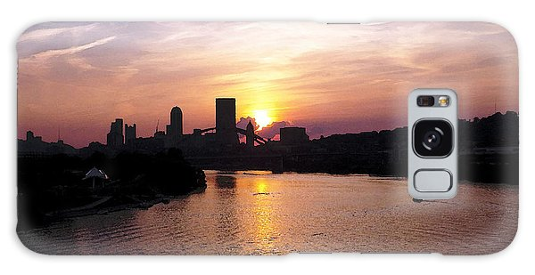 Sunset In Pittsburgh Galaxy Case