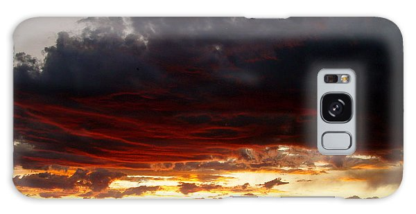 Sunset In Red Galaxy Case