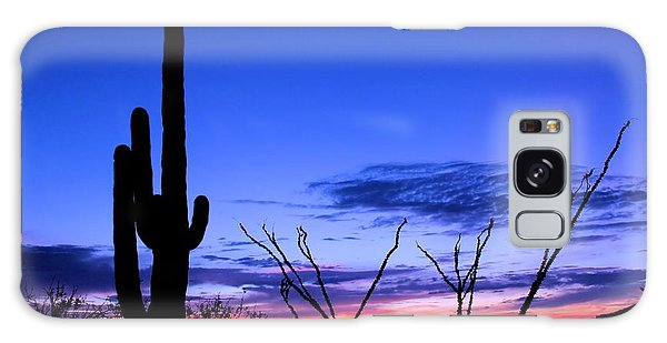 Sunset In Saguaro National Park Galaxy Case