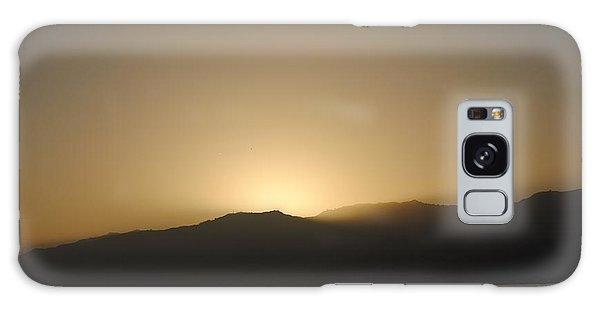Sunset In Santa Monica Galaxy Case by Robert  Moss