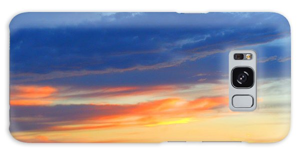 Sunset In The Black Mountains Galaxy Case