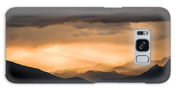 Sunset In The Mountains Galaxy Case