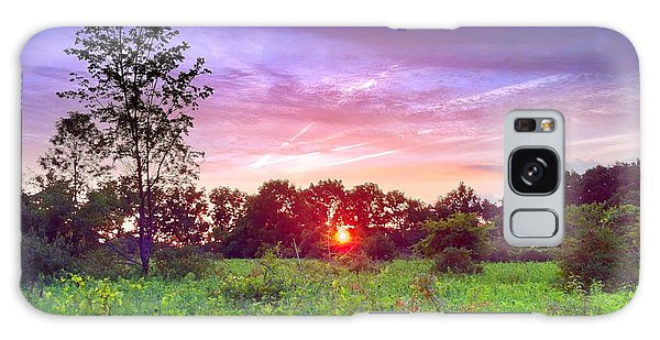 Sunset In The Park  Galaxy Case