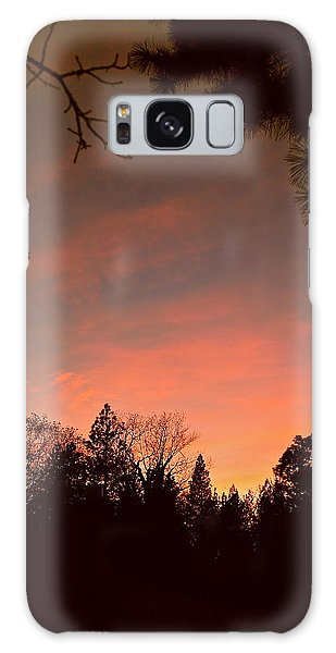 Sunset In Winter Galaxy Case