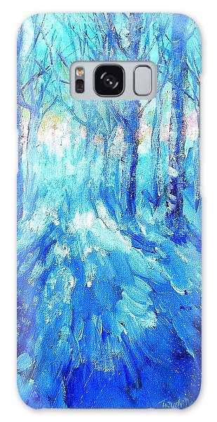 Sunset In A Winter Wood  Galaxy Case by Trudi Doyle