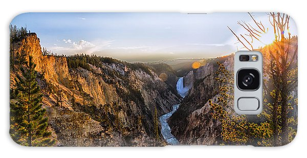 Sunset In Yellowstone Grand Canyon Galaxy Case