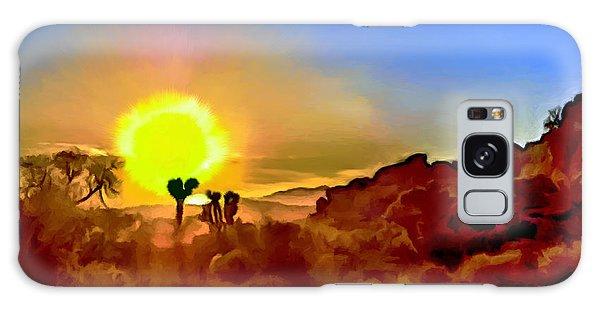 Sunset Joshua Tree National Park V2 Galaxy Case