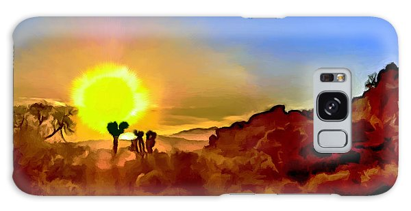 Sunset Joshua Tree National Park V2 Galaxy Case by Bob and Nadine Johnston