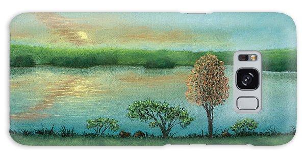 Sunset Lake B Galaxy Case