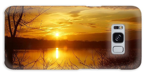Sunset Lake Galena Galaxy Case by Photographic Arts And Design Studio