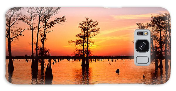 Sunset Lake In Louisiana Galaxy Case