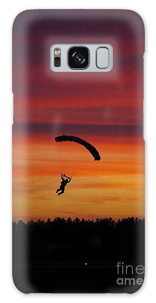 Sunset Landing Galaxy Case by Tannis  Baldwin