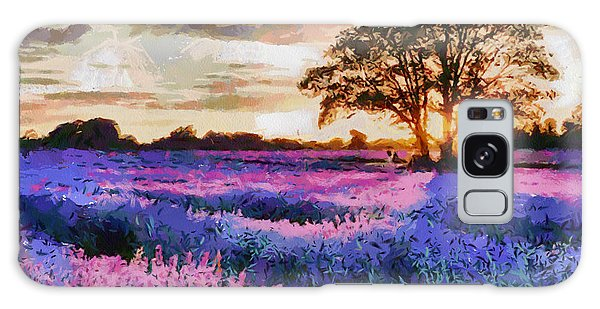 Sunset Lavender Field Galaxy Case
