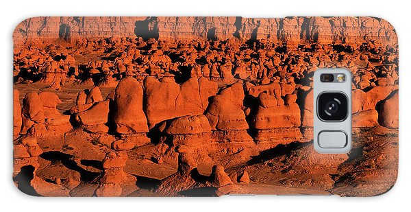 Sunset Light Turns The Hoodoos Blood Red In Goblin Valley State Park Utah Galaxy Case by Dave Welling