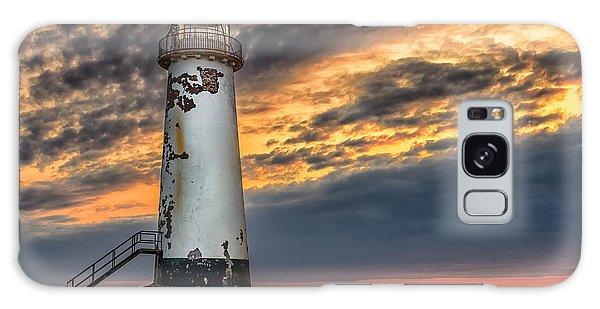 Sunset Lighthouse Galaxy Case
