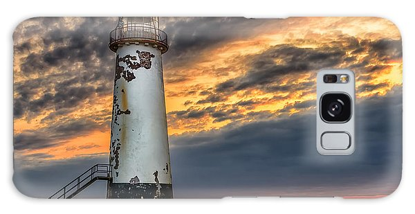 Sunset Lighthouse Galaxy Case by Adrian Evans