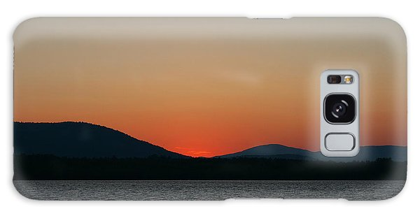 Sunset Lines Of Lake Umbagog  Galaxy Case by Neal Eslinger