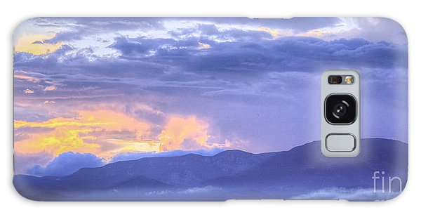 Sunset Low Clouds Galaxy Case