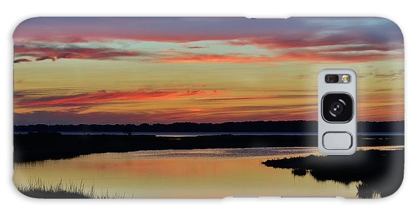 Sunset Marsh Galaxy Case by William Bartholomew