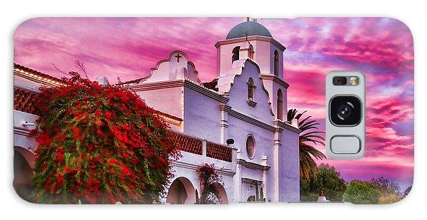 Sunset Mission San Luis Rey De Francia By Diana Sainz Galaxy Case