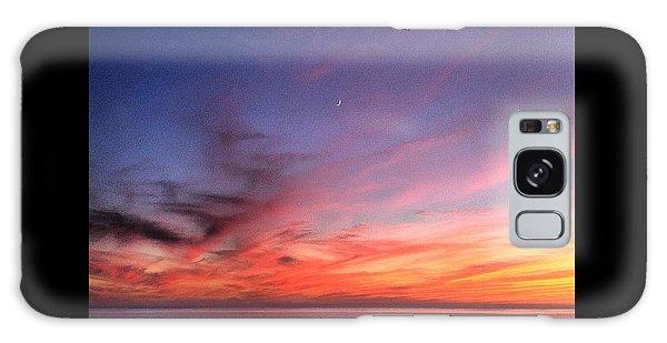 Sunset Moon Rise Galaxy Case