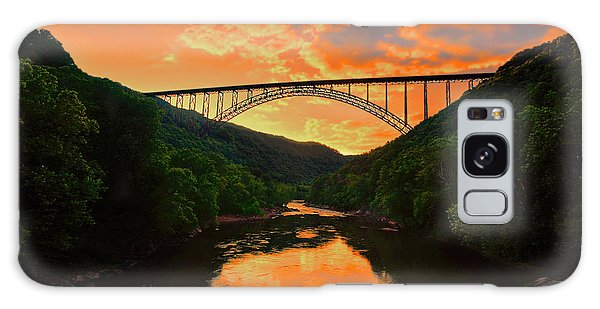 Galaxy Case featuring the photograph Sunset New River Gorge by Dan Friend