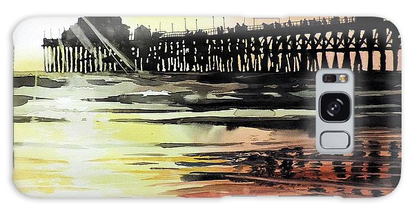 Sunset Oceanside Pier Galaxy Case by Tom Riggs