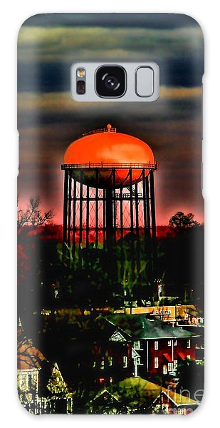 Sunset On A Charlotte Water Tower By Diana Sainz Galaxy Case