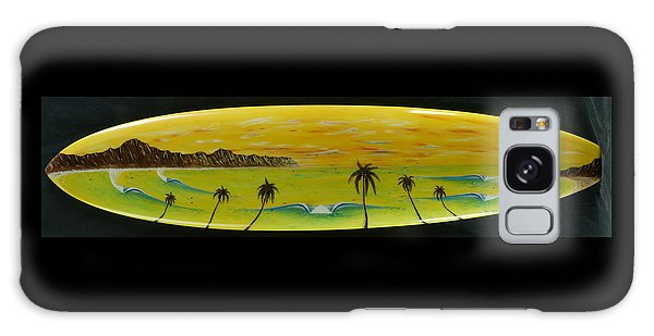 Sunset On A Surfboard Galaxy Case