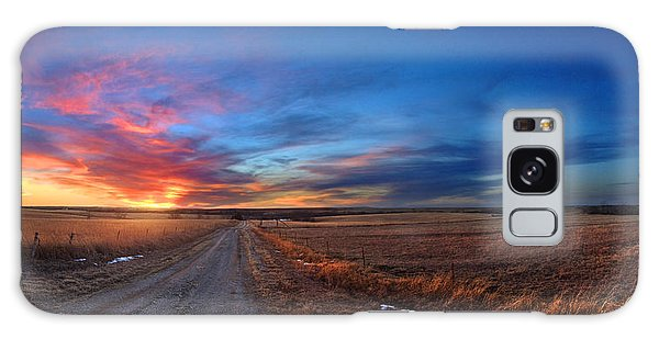 Sunset On Aa Road Galaxy Case by Rod Seel