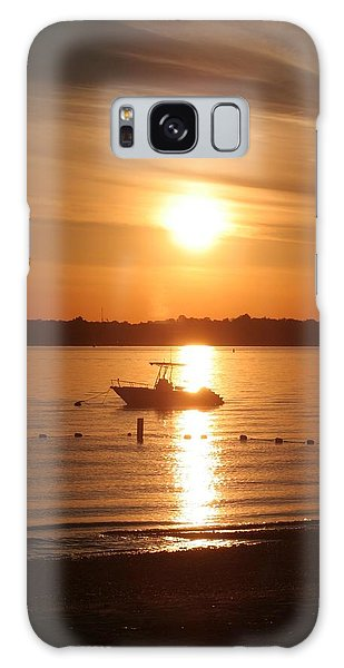 Sunset On Boat Galaxy Case