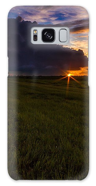 Sunset On Bridge Road Galaxy Case