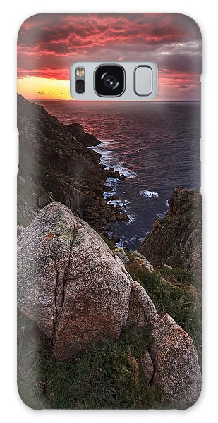 Sunset On Cape Prior Galicia Spain Galaxy Case
