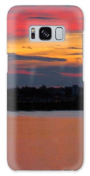 Sunset On Casco Bay Maine Galaxy Case