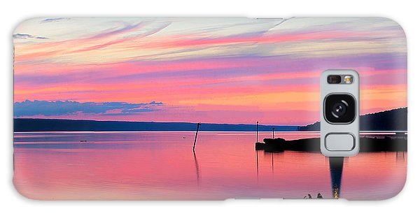 Sunset On Cayuga Lake Ithaca New York Galaxy Case by Paul Ge