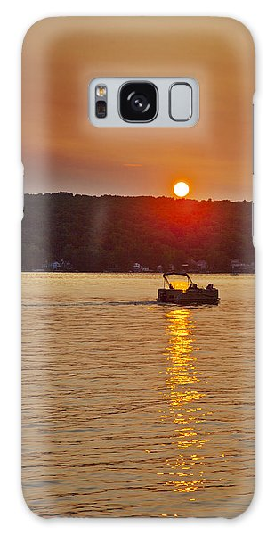 Boating Into The Sunset Galaxy Case by Richard Engelbrecht