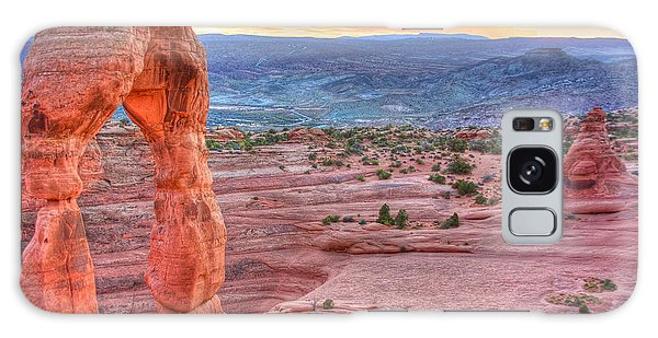 Sunset On Delicate Arch Galaxy Case
