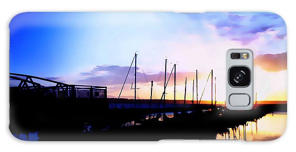 Sunset On Edmonds Washington Boat Marina Galaxy Case