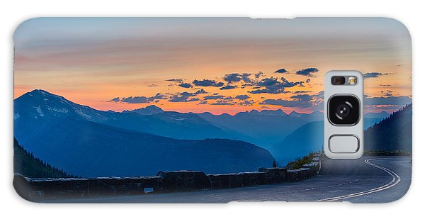Sunset On Going-to-the-sun Road Galaxy Case