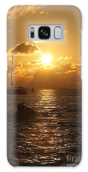 Sunset Over Key West Galaxy Case by Christiane Schulze Art And Photography