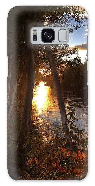 Sunset On Lake  Galaxy Case by Betty  Pauwels