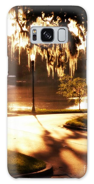 Sunset On Lake Mizell Galaxy Case by Valerie Reeves
