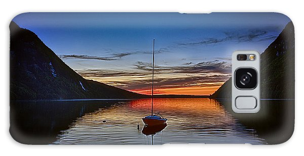 Sunset On Lake Willoughby Galaxy Case