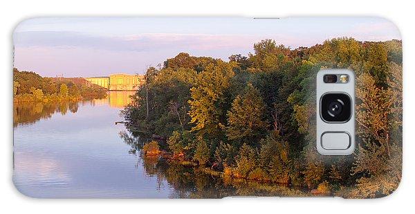 Sunset On Lake Wissota Dam Galaxy Case by Larry Capra