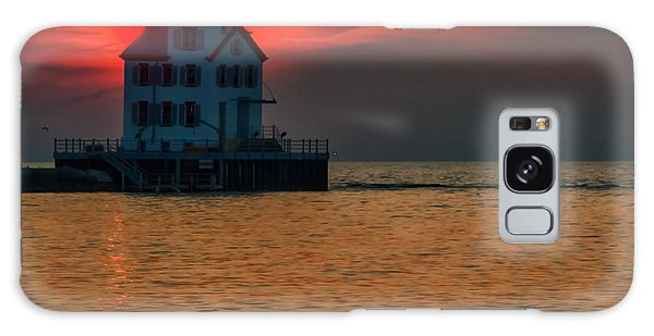 Sunset On Lighthouse Galaxy Case