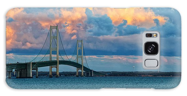 Sunset On Mackinac Bridge Galaxy Case