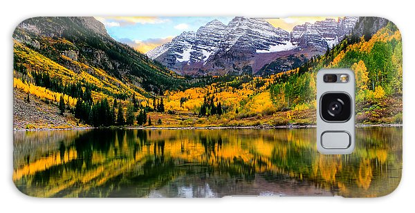Sunset On Maroon Bells Galaxy Case